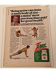 1980 Dan Gable U.S. Olympic Wrestler Z-Bec Supplement Magazine Print Advertisement