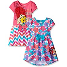 Disney Girls' 2 Pack Ariel The Little Mermaid Dresses