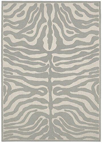 Garland Rug Safari Area Rug, 5 x 7, Silver/Ivory