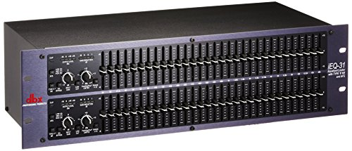 31 Band 1/3 Octave Graphic - dbx iEQ31 Intelligent Dual 31 Band Graphic Equalizer with AFS