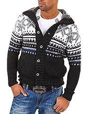 behype. Heren gebreide jas trui in Noorse look 40-0711