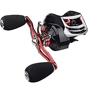 Mpeter Knight baitcasting fishing reel, 10 +1 Shielded Bearings, 17 LB Carbon Fiber Drag, 7.1:1 Baitcaster Fishing Reel, 9 magnetic Dual-brake system, Saltwater Freshwater Fishing Use by Mpeter