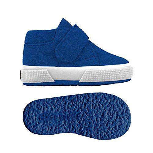 Superga S001NW0 - Zapatos de cordones para niños Blue Royal Marine