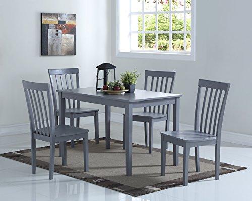 Angel Line Dining Set (5-Piece), Gray (Piece Grey 5 Dining Set)