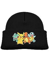 Kid Pokemon Pikachu Charmander Squirtle Beanie Cap Winter Hats Watch Cap