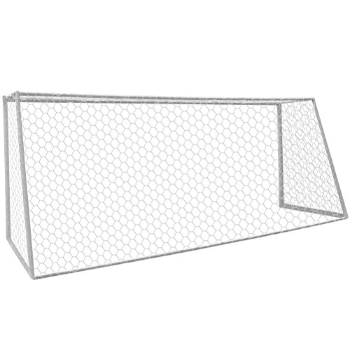 Aoneky Polyester Soccer Goal Net - 24 x 8 Ft - 4 mm Cord - Replacement Full Size Football Post Net- Heavy Duty Soccer Netting - NOT Include Posts
