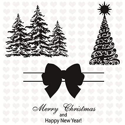 2019 Christmas Stamps.Amazon Com Us Warehouse Davitu 2019 New Christmas Clear