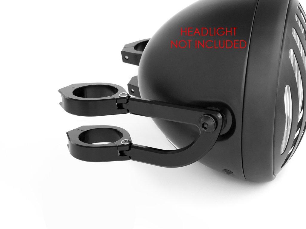 Haute Qualit/é 54-55mm Supports de Phare Support Fixation Fourche pour Moto Trike Aluminium CNC