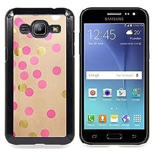 BullDog Case - FOR Samsung Galaxy J2 - Diy Paper Gold Pink Brown - Dise???¡¯???¡Ào para el caso de la cubierta de pl???¡¯????stico Chicas