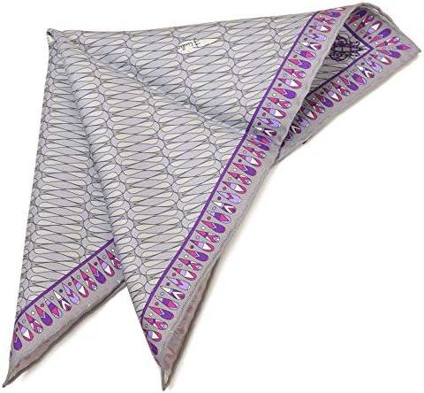 (エミリオプッチ)ポケットチーフ メンズ プッチ柄シルクポケットチーフ(サイズ32×32cm)eep19w137 ライトグレー