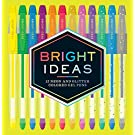 Bright Ideas: 12 Neon and Glitter Colored Gel Pens: (Gel Pens for Coloring, Glitter Pens for Adult Coloring Books, Sparkle Gel Pens)