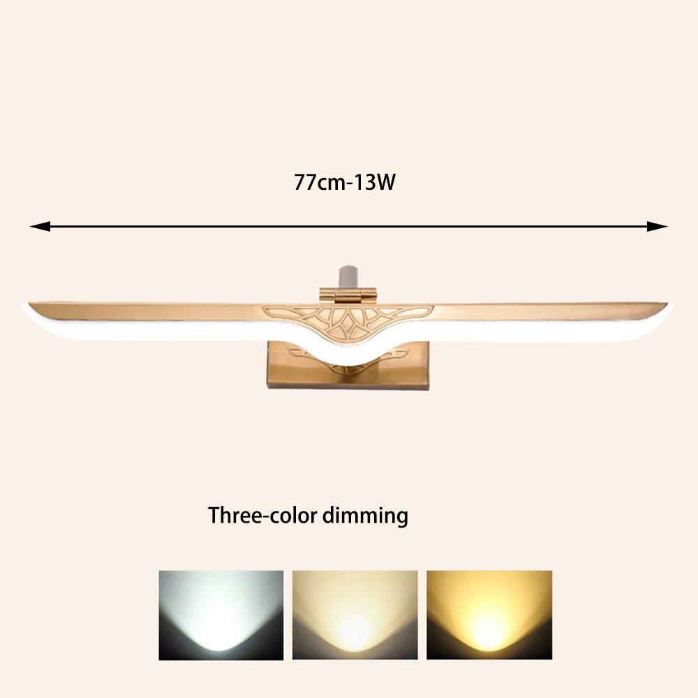 HAIZHEN ブラケットライト LEDミラーフロントライトバスルームヨーロッパのミラーキャビネットライトバスルームミラーランプ(3色調光) (サイズ さいず : 38cm-6W) B07C3KNYSC 15937 38cm-6W  38cm6W