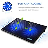 """ThreeLeaf T102 10-15.6"""" Office Laptop Cooling Pad (Big 2Fans Super Quiet , Double Sides Built-in USB Line, Back Feet Stand)"""