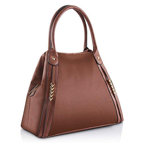 Women Handle Top Handbags Purses Tote Hobo Bags Bags Leather Brown Women Bags PU Shoulder r8rwnxq