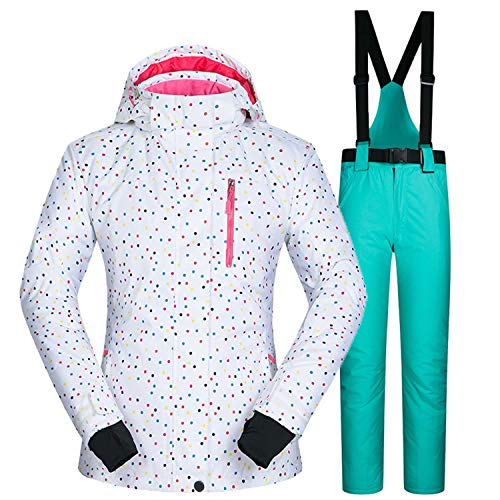 6 Double Au Ski Femme Taille Imperméable Tenir Costume Simple Blanc De Grande planche Chaud Respirant Pantalon Combinaison D'hiver K1JclF