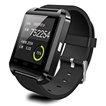 Efanr U8 Bluetooth Smart Wrist Watch Smartwatch WristWatch Phone Mate Pedometer Fitness Activity Tracker Wristband with Camera Touch Screen for iPhone Android Smartphones (Black)