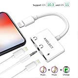 3 in 1 IPhone Headphone Adapter, AXELECT Lightning