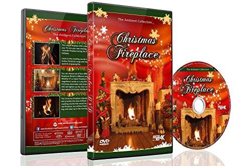 Christmas DVD - Chimenea de Navidad con leña larga con sonidos de quema y música de Navidad