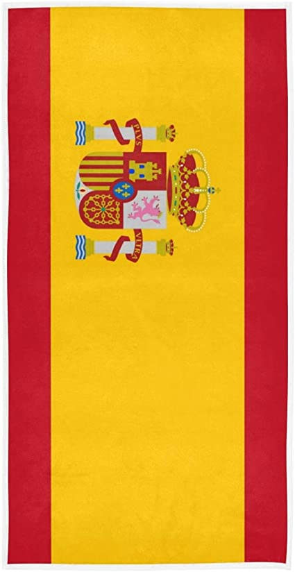 DEZIRO - Toallas deportivas con bandera de España altamente absorbentes: Amazon.es: Hogar