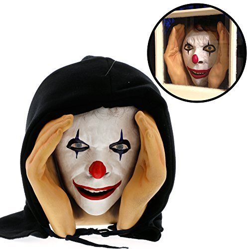 Halloween Decoration - Scary Peeper - Giggle - The True-to-Life Window Prop that will scare your socks off