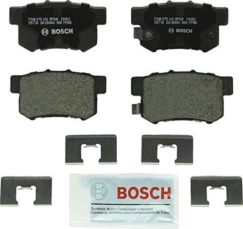Bosch BP536 QuietCast Premium Disc Brake Pad Set For: Acura CL, EL, Integra, Legend, RL, TL, RDX; Honda CR-V, Element, Odyssey; Isuzu Oasis, Rear Acura Legend Brake Pads