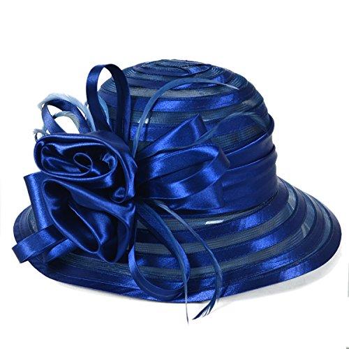 Wimdream Women's Church Wedding Cloche Bucke That Floral Bridal Derby Hat S015-X