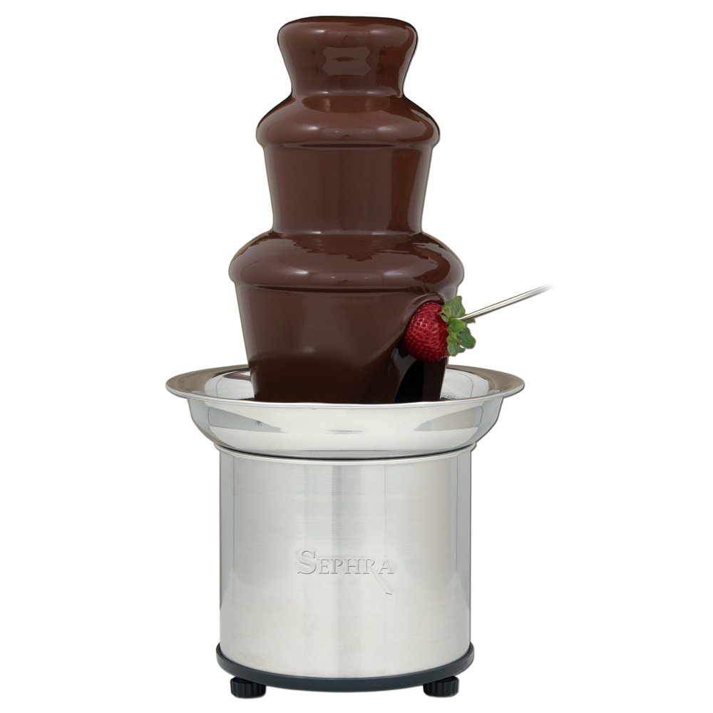 A full chocolate fountain, thanks to the Archimedes Screw! (Sephra)