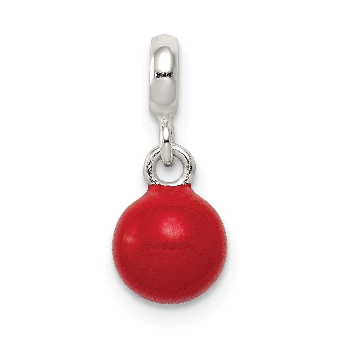 ICE CARATS 925 Sterling Silver Red Enameled Bead Enhancer Necklace Pendant Charm Fine Jewelry Ideal Gifts For Women Gift Set From Heart