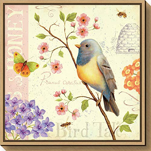 Amanti Art Birds and Bees I by Daphne Brissonnet Canvas Art Framed