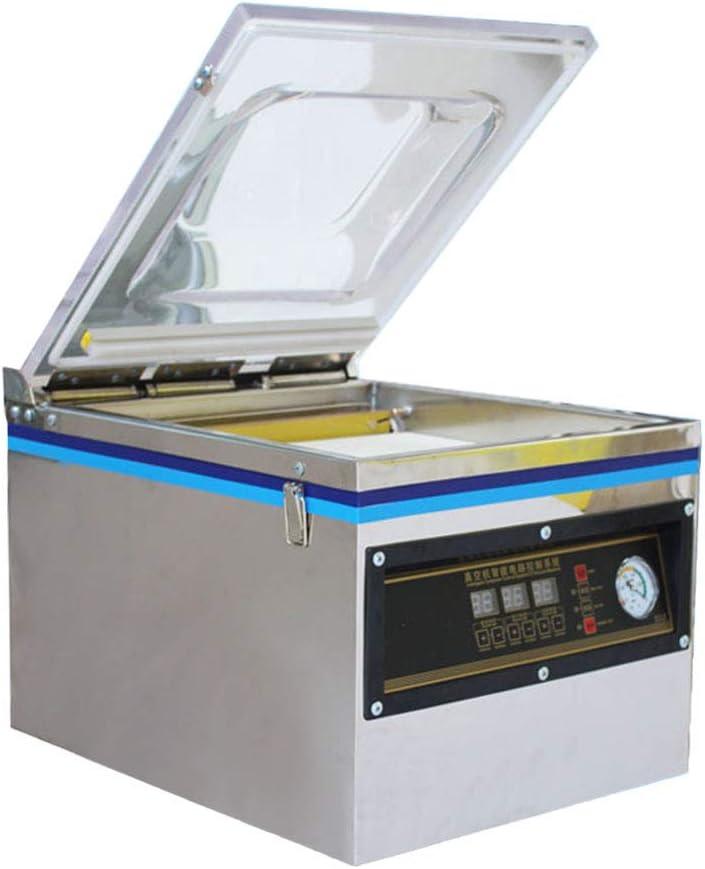 DZ-260C Vacuum Sealer Highly Efficient Vacuum Sealer Stainless Steel Bag Sealer 320MM Food Chamber Tabletop Vacuum Sealer Machine 110V for Home and Commercial Using (DZ-260C)