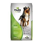 Nulo Grain Free Senior Dog Food with Glucosamine and Chondroitin (Trout and Sweet Potato Recipe, 24lb Bag)