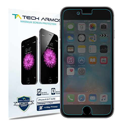 iPhone 6 Privacy Screen Protector, Tech Armor 4Way 360 Degree Privacy Apple...