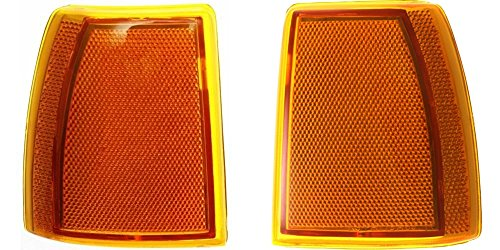 DAT AUTO PARTS Side Marker Light Assembly Set of Two Replacement for 89-92 Ford Ranger 91-94 Ford Explorer Corner of Fender Front Left Driver and Right Passenger Side Pair FO2550107 FO2551105
