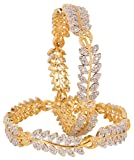 Wedding wear Style CZ Stone Indian Bangle Partywear Ethnic Jewellerry (2.8)