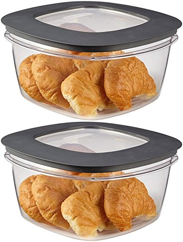 (Rubbermaid Premier Food Storage Container, 14 Cup, Gray, Pack of 2)