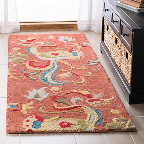 Safavieh Blossom Collection BLM680B Handmade Rust and Multi Premium Wool Runner 2 6 x 10
