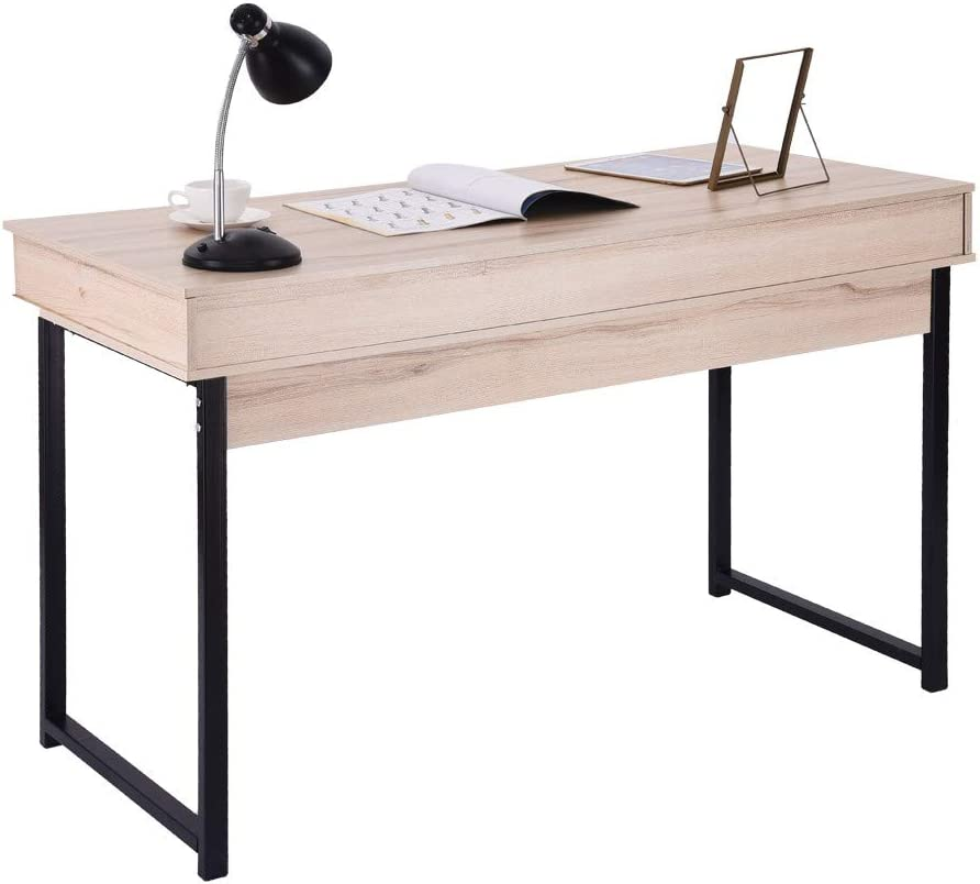 Computer Table Laptop Office Desk Study Table Simple Workstation Ship from USA Sttech1 Computer Desk with 2 Drawers