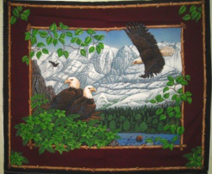 Eagle Overlook Wall Hanging by General Fabrics - 100% Cotton, Panel ()