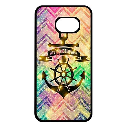 Hard Skin Case Cover Shell for Samsung Galaxy S7, Tribal Anchor Protective Phone Cases For Girls
