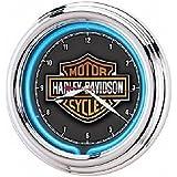 Harley-Davidson Essential Bar & Shield ネオン/壁掛け時計 並行輸入品
