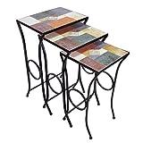 D64067 Mosaic Nesting Table Set