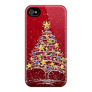 New Colorful Christmas Tree Tpu Skin Case Compatible With Iphone 5/5s