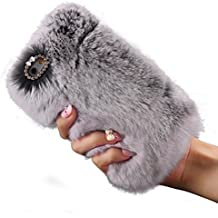 iPhone 6/ 6S Case, DaySeventh Warm Fluffy Villi Fur Plush Wool Bling Case Cover Skin For iPhone 6/ 6S 4.7inch (Gray)