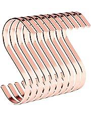 PAMO S-haak van metaal - keukenhaak van roestvrij staal voor het ophangen van pannen in de keuken of kleding aan de kledingstang S-haak roestvrij staal
