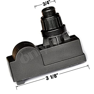 """Onlyfire 03310 Spark Generator 1 Male Outlet """"AAA"""" Battery Push Button Ignitor Igniter Replacement for Select Gas Grill Models by Amana, Uniflame, Surefire, Charmglow, Charbroil, Centro, Brinkmann, BBQ Pro, Bakers, Chefs and Solaire,Sterling, Broil Mate a"""