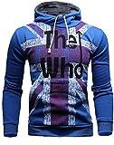 Mooncolour Mens Novelty Color Block Hoodies Cozy Sport Autumn Outwear – The Who, Royal Blue, US Large