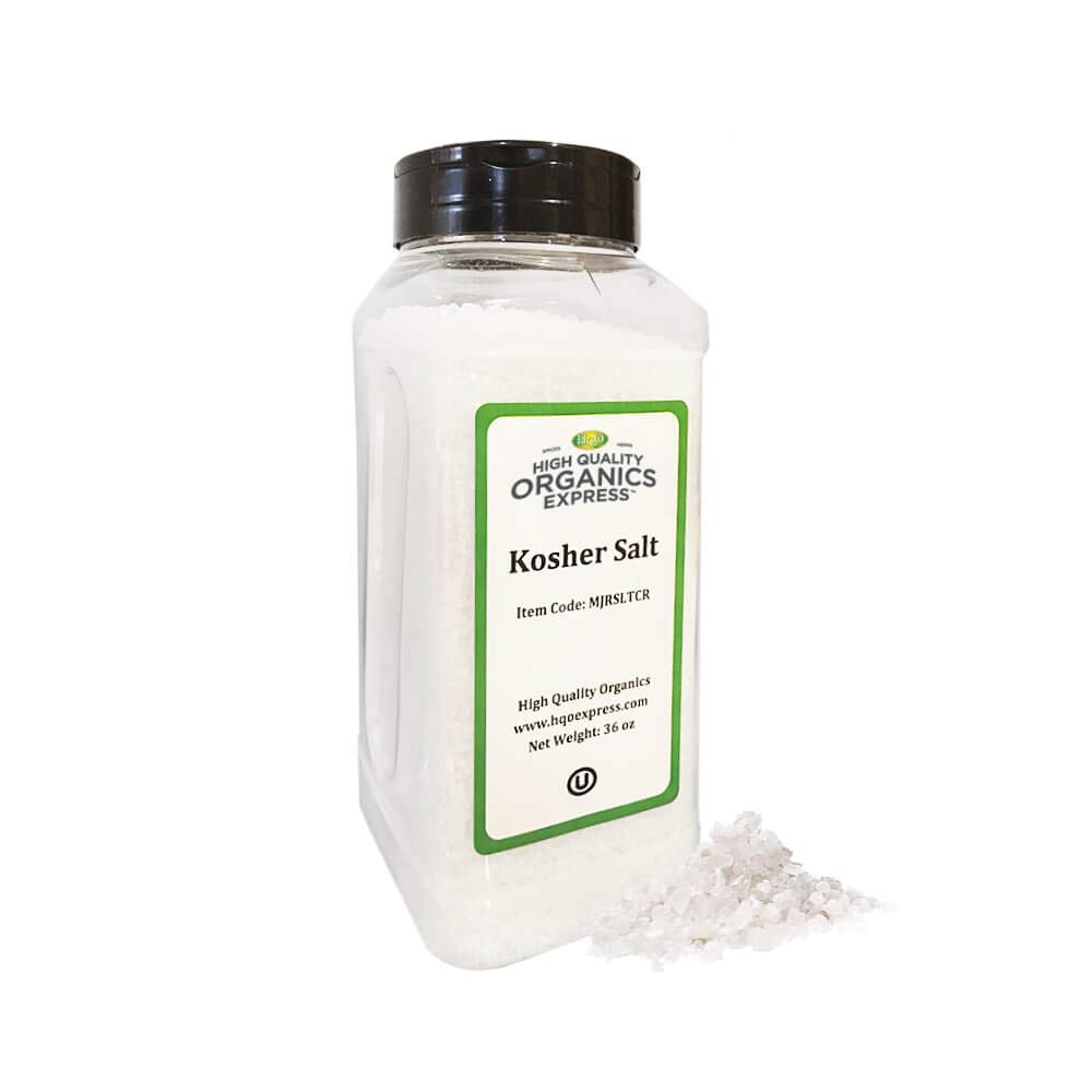 HQOExpress | Organic Kosher Salt | 36 oz. Chef Jar