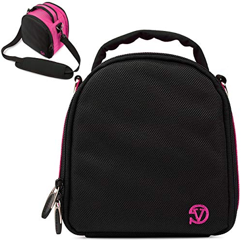 VanGoddy Laurel Magenta Carrying Case Bag for Nikon CoolPix Series Compact to Advanced Digital Cameras
