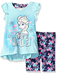 Disney Little Girls' Frozen Bike Short Set