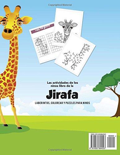 Las actividades de los ninos libro de la jirafa: Laberintos, Colorear y Puzzles para Ninos (Spanish Edition): Young Scholar: 9781635894523: Amazon.com: ...